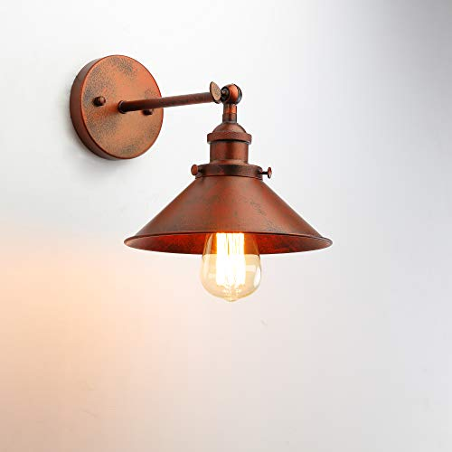 Black Antique Wall Sconce, industrial pared retro lampara lampara de metal Shade...