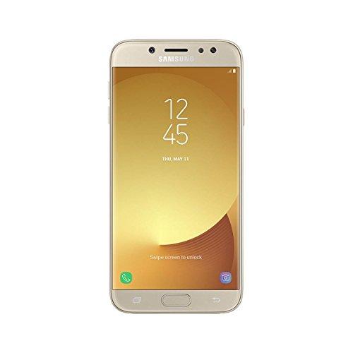 Samsung Galaxy J5 2017 - Smartphone libre de 5.2' HD (4 G, Bluetooth, Octa-Core de 16 GHz, memoria interna 16 GB, 2GB RAM, pantalla Super Amoled, cámara de 13 MP, Android 7.0) dorado