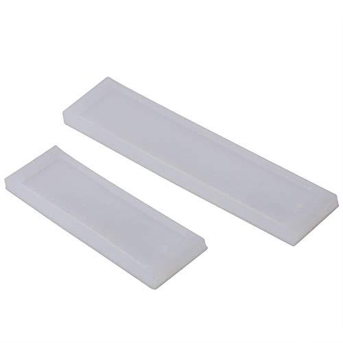 Mootea 2 pz/set Segnalibro fai da te stampo rettangolo stampo in silicone per realizzare utensili artigianali in resina epossidica