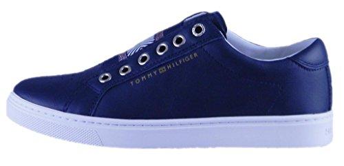Tommy Hilfiger Iconic Metallic Elastic Sneaker, Scarpe da Ginnastica Basse Donna 403/midnight