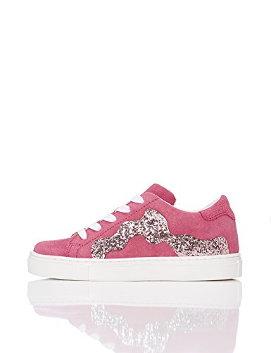 RED WAGON Mädchen Sneaker mit Pailletten, Rosa (Fuschia), 34.5 EU (2 UK) (Rosa Mädchen-jeans)