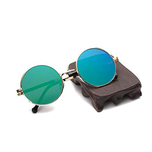 FGRYGF-eyewear2 Sport-Sonnenbrillen, Vintage Sonnenbrillen, Sun Glasses Retro Flat Metal Round Frame HD Resin Lenses Uv400 Travel Outdoor Sunglasses For Men Women SI508