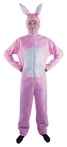 Rosa Kostüm Hasen - P 'Tit Clown-10280-- Rosa Kaninchen Kostüm für Erwachsene-One Size