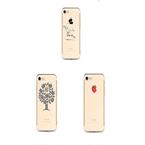 Custodia iPhone 6 6S 4.7 TXLING Cover Serie Silicone TPU Cassa Ultra Sottile Case Protettiva Morbida Flessibile Caso Liscio Leggero Custodia Antigraffio Antipolvere Cover- unicorno marrone pesce