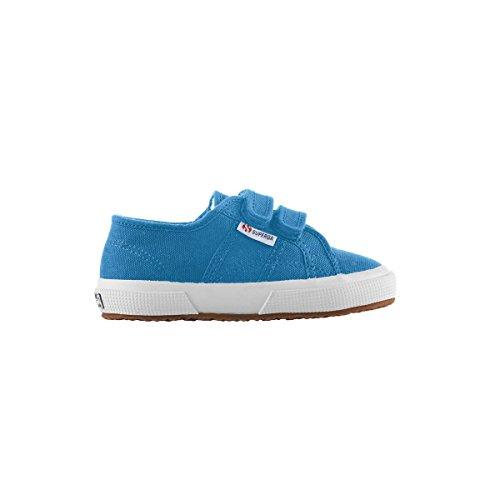 Superga - Cobinvj, Sneaker Bambino Blu  (Blue Caribe)