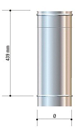 CORDIVARI–aluminié acier inoxydable D. 200Mono Mural AISI 316L CORDIVARI–-Élément droit L. 500mm