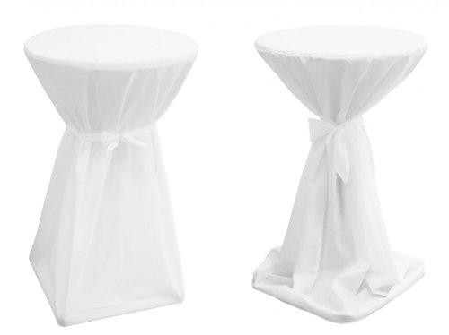 Stehtischhussen Basic (Farbe & Durchmesser nach Wahl) - Weiß 70cm Durchmesser