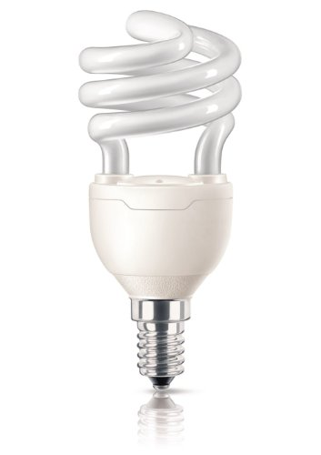 Philips Ampoule FluoCompacte Spirale Culot E14 12 Watts Consommés Équivalence Incandescence : 58W