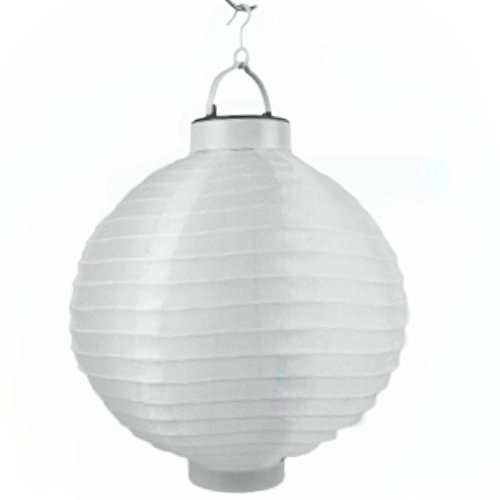 LED Lampion 4 Farben Ø 20 cm - Party- und Gartenlaterne - (Weiß)