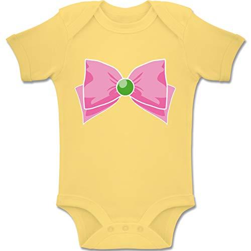 Karneval und Fasching Baby - Superheld Manga Jupiter Kostüm - 6-12 Monate - Hellgelb - BZ10 - Baby Body Kurzarm Jungen - 6 9 Monate Superman Kostüm
