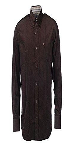 Delsiena -  camicia classiche  - uomo marrone marrone