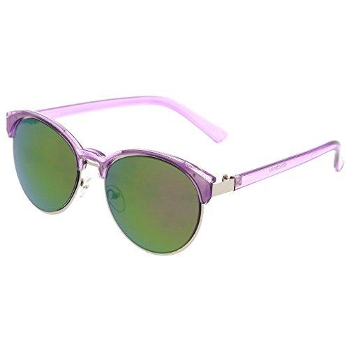 sunglassLA -  Occhiali da sole  - Uomo Purple-Silver / Purple Mirror Taglia unica