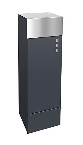 frabox Design Paketkasten Namur EXKLUSIV Edelstahl/Stahl lackiert