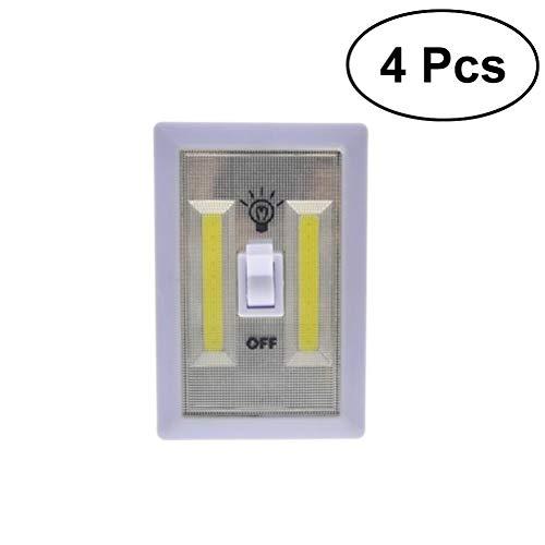 OSALADI Schrank Lichtschalter Batteriebetriebene LED Notnachtlicht Wasserdichte Wandleuchte für Wand Wireless Mount Unter Kabinett - Mount-unter-kabinett Lichter