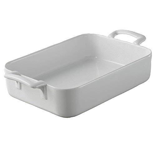 REVOL 5569 Plat à Four Rectangulaire Porcelaine Blanc 30 x 21,5 x 6,5 cm