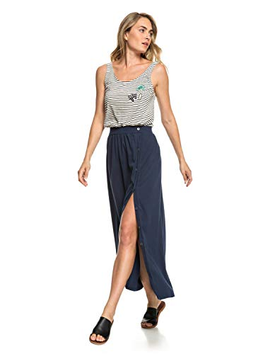 Roxy Rock (Roxy Moment of Crazyness - Maxi Skirt for Women - Maxirock - Frauen - M - Blau)