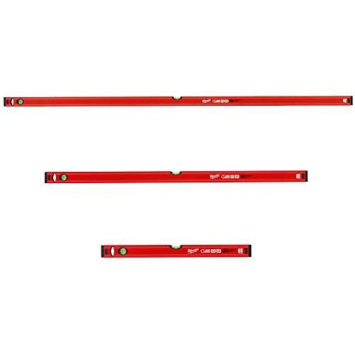 Preisvergleich Produktbild Milwaukee Wasserwaagen-Set 3-teilig 180cm + 120cm + 60cm