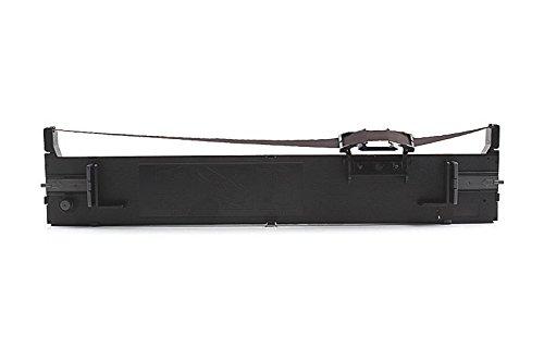 Inkadoo Farbbänder kompatibel zu Epson LQ690, LQ-690 C13S015610 S015610 - Premium Nylonband Alternativ - Schwarz