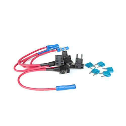 Cdrox 12-24V hinzufügen Circuit Standard Mini Micro Blade Fuse Boxes Halter ACS ATO ATC Piggy Back Sicherungen Tap Atc Mini Blade Fuse