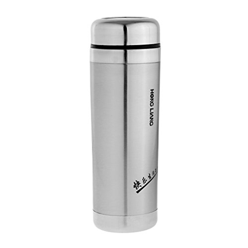Segolike Stainless Steel Vacuum Flask Cold/Hot Water Bottle Travel Office Coffee Tea Mug - silver, 420ML  available at amazon for Rs.640