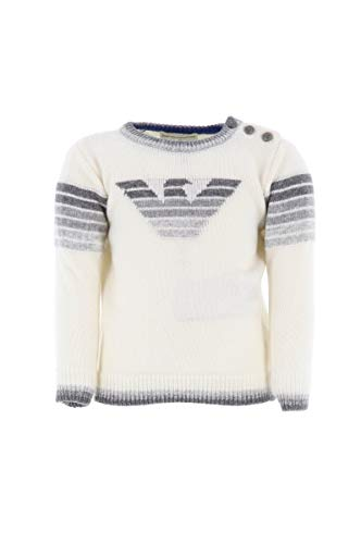 Armani Baby Fall/Winter 2019 Pullover Cashmere, Weiß 12 Monate -