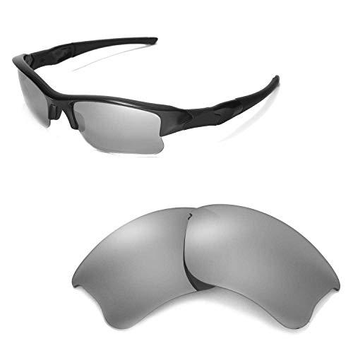 Walleva Ersatzgläser oder Gläser/Gummi-Set für Oakley Flak Jacket XLJ Sonnenbrille - 53 Optionen, Titanium Mirror Coated - ISARC Polarized