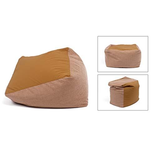 Sofas Quadratische Sitzsäcke und PU-BeanBag Aus Stoff Multicolor Optional (Color : Beige, Size :...