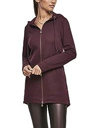 Urban Classics Damen Sweatjacke Ladies Sweat Parka, lange Kapuzenjacke im Stil eines Zip Hoodie
