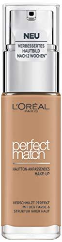 Amber Foundation (L'Oréal Paris Perfect Match Foundation, flüssiges Make-Up, deckend und feuchtigkeitsspendend für einen natürlichen Teint - 7D/7W (30 ml))