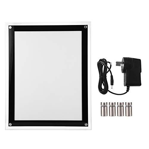 Riuty Tragbare LED-Lichtbox, Light Box Light Pad - 220 V A3 / A4 LED-Lichtbox Werbung Acryl Klapprahmen Backlit Board Poster Display (EU-Stecker)(A3) -
