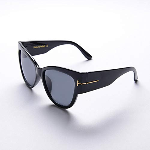 ZRTYJ Sonnenbrille Sonnenbrille Frauen Flat Top Sqaure Luxusmarke Designer Schwarz Niet Sonnenbrille Für Frauen Overisze Weiblich