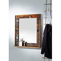 Miroir de salle de bain - Bois recyclé laqué (Multicolore) - Inspiration ethnique - NATURE OF SPIRIT #104