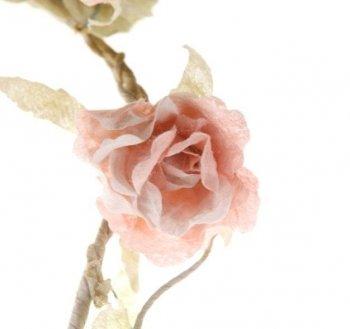 Sass & Belle Rose Garland, Light Pink, 165 cm