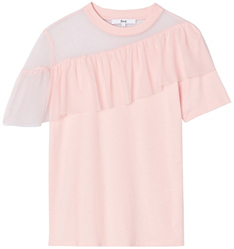 FIND T-shirt con Rouche Donna Rosa (Blush)