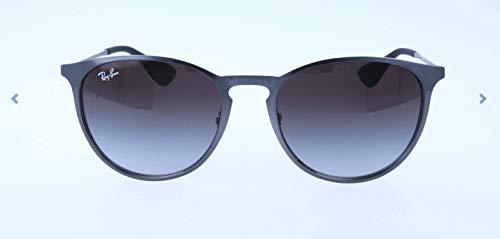 Ray Ban Unisex Sonnenbrille Erika Metal Mehrfarbig (Gestell: Metalic-grau, Gläser: grauverlauf 192/8G)), Large (Herstellergröße: 54)