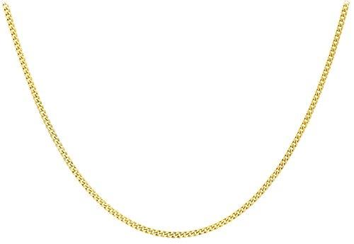 Carissima Gold 9ct Yellow Gold Diamond Cut Curb Chain of 56cm/22″