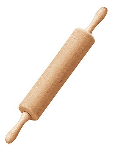 Dr. Oetker Teigroller mit Metallachse, Nudelholz als Backzubehör, Backrolle aus Buchenholz zum Teigrollen - stabil & langlebig (Maße: Ø 6,5 x 43 cm), Menge: 1 Stück - Breite Kugellager