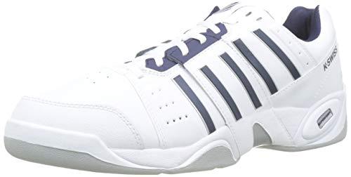 K-Swiss Performance Accomplish Iiicarpet m, Scarpe da Tennis Uomo, Bianco (White/Navy, 13 000070583), 49 EU