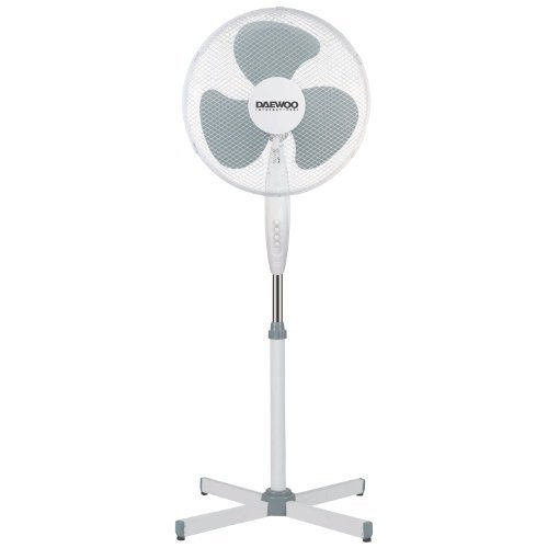 Netagon 16″ Electric Oscillating Floor Standing Pedestal Air Cooling Fan (White)