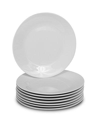 Abendessen Teller-Classic Solid Maurerkelle Coupe Stil Porzellan Geschirr Round Salad Plates ()