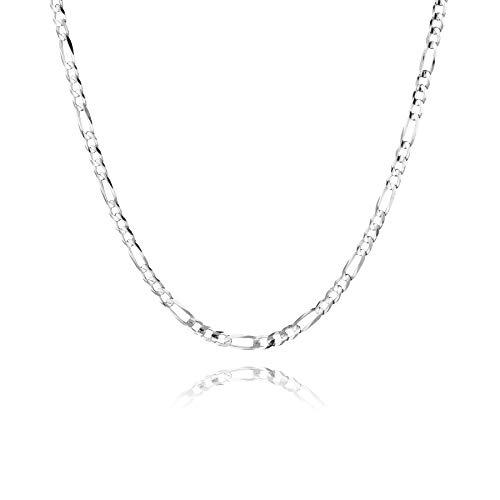 STERLL Herren Hals-Kette Silber 925 60cm, Ohne Anhänger Geschenkbox Weihnachtsgeschenke für Männer