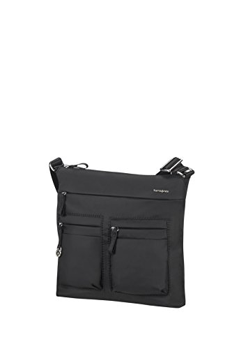 Samsonite Move 2.0 Flat Shoulder Bag iPad Bolso Bandolera, 3.84 litros, Color Negro