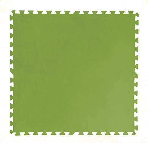 Bestway Flowclear Pool-Bodenschutzfliesen-Set, 8 Stück á 81 x 81 cm, grün