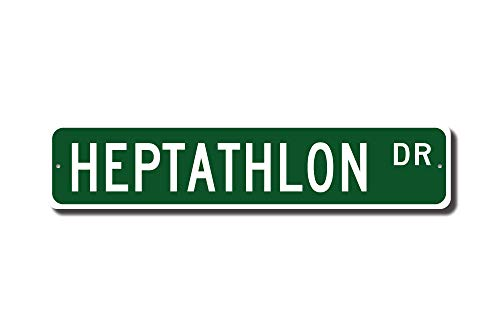 C-US-lmf379581 Heptathlon Heptathlon Sign Heptathlon Fan Heptathlon Participant Gift Track Star Gift Track Custom Street Sign Quality Metal Sign - Star Street Sign