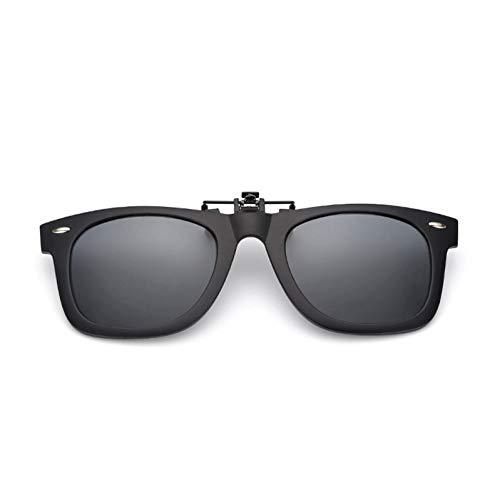 CCGSDJ Polarisierte Linse Clip Auf Sonnenbrille Über Sonnenbrille Flip Up Brille Clip Auf Shades Für Frauen Männer Schutz