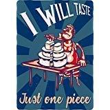 Retro Crazy Weird Meme Poster Cartoon - I Will Taste Just One Piece Truck Car Bumper Sticker Vinyl Decal 5