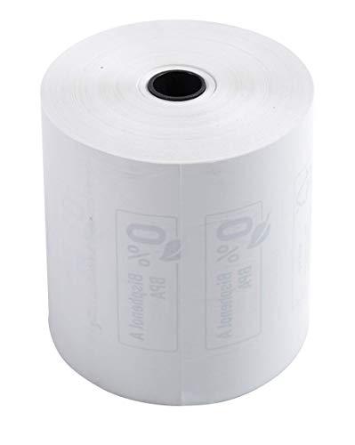 kung (mit 10 Kassenrolle, 1-lagig thermisch, ideal für Kassen, 48g/qm, Breite: 80mm, Durchmesser Kern: 12mm, Länge: 76m) 1er Pack (1 x 10 Stück) weiß ()