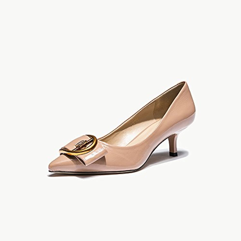 Sandalias Feifei Zapatos de Mujer Fashion Vintage Nightclub Banquet Shallow Thin Pointed Thin Heels (con Alto:...