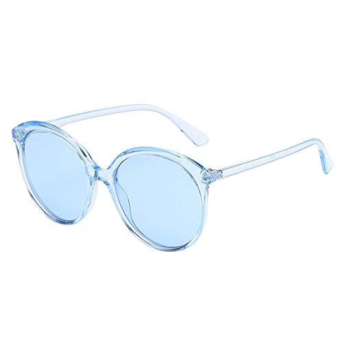 (kolila Damen Herren Brillen Sonnenbrillen Verkauf Ausverkauf Unisex Retro Vintage Große Runde Rahmen Candy Farbe Auge Strahlenschutz Sonnenbrille)