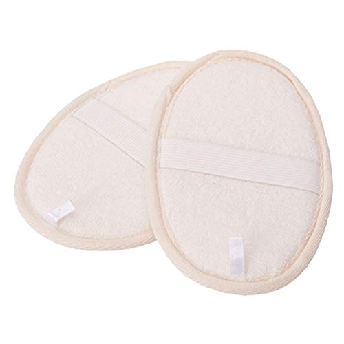Healifty Luffaschwämme Pads Natürlicher Hautpeeling Badeschwämme Reinigen Massage Bürste 2 Stück (Beige)